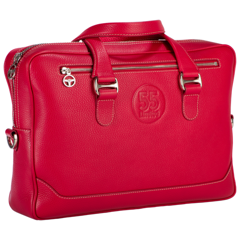 City Briefcase: Red - Natural