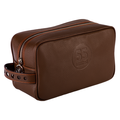 Dopp Kit: Brown - Orange