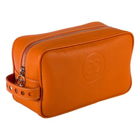 Dopp Kit: Orange - Natural