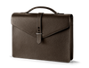 Gentleman Briefcase: Brown - Natural -  Leather-good - Raidillon