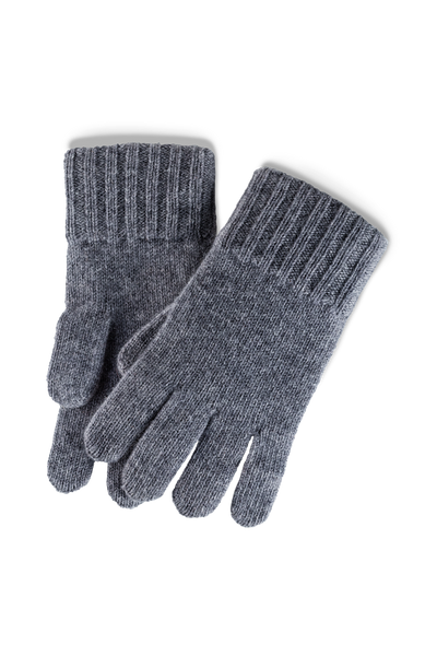 Cashmere Lining Gloves: Grey -  Accessories - Raidillon