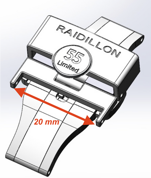 Folding buckle Raidillon 55 -  Wriststrap - Raidillon
