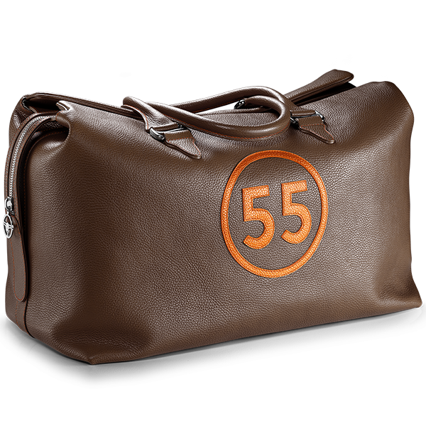 Weekend Bag: Brown - 55 in Orange -  Accessories - Raidillon