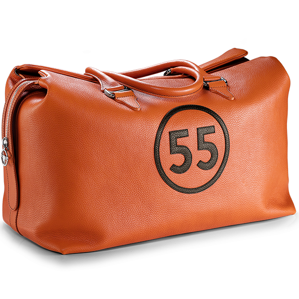 Weekend Bag: Orange - 55 in Brown -  Accessories - Raidillon