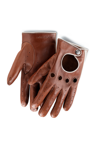 Gentleman Racing Gloves: Light Brown