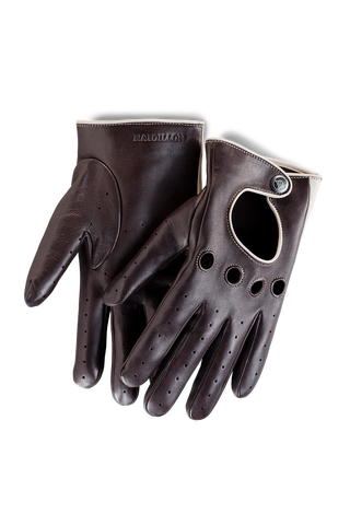 Gentleman Racing Gloves: Brown Oatmeal