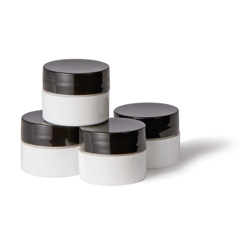 1/4oz Mixing Jars White 4 pack  - YoungNails