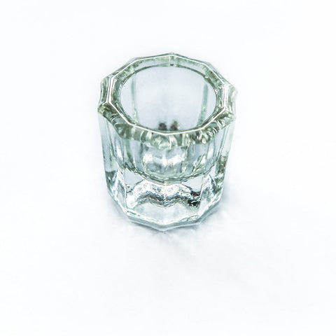 Clear Glass Dampen Dish  - YoungNails