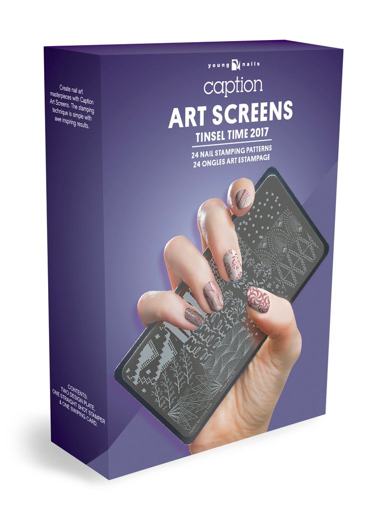 Young Nails - Art Screen - Tinsel Time
