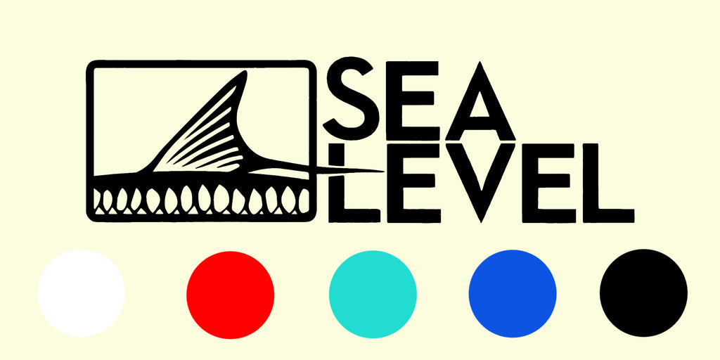Sea Level Logo Decal (5 Color Options)