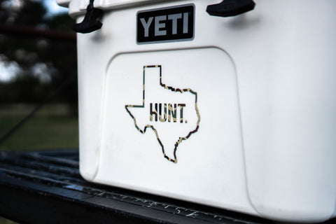 Hunt. Texas Retro Camo Decal