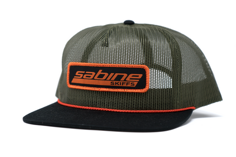 Sabine Patch Hat - Olive/Black