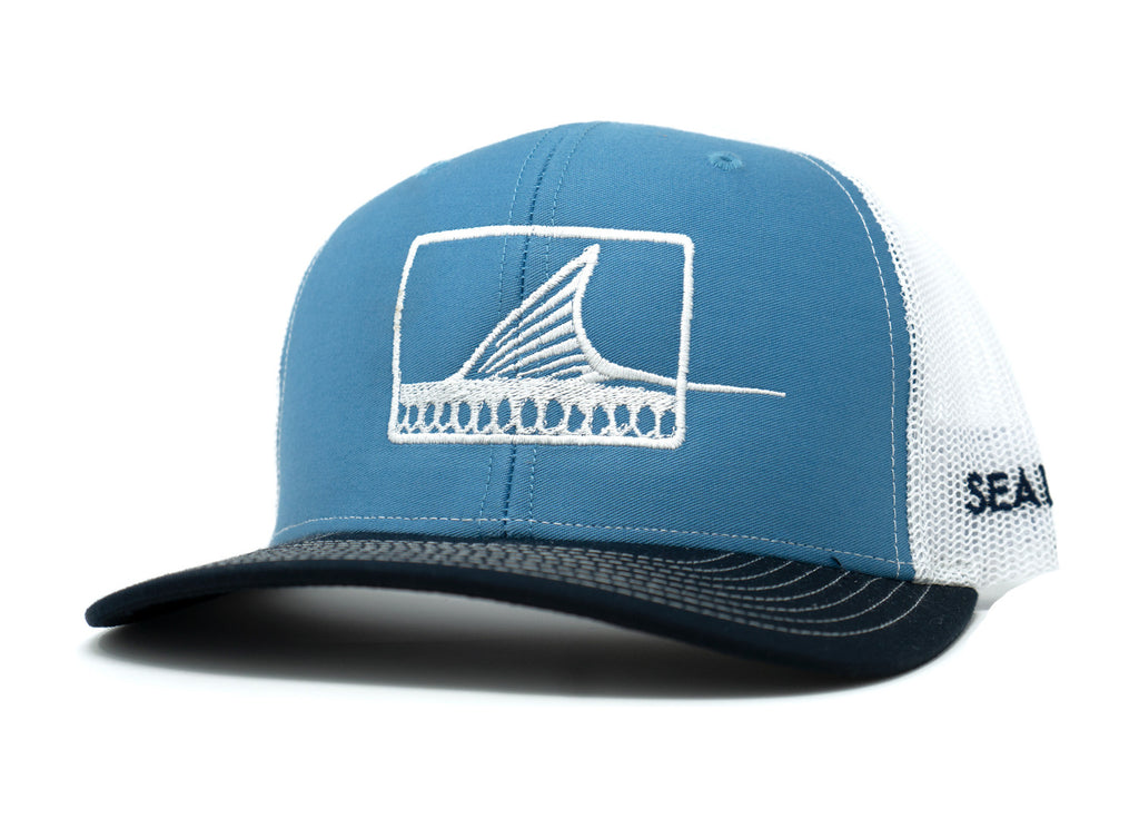 Roller Hat - Navy/Ocean/White