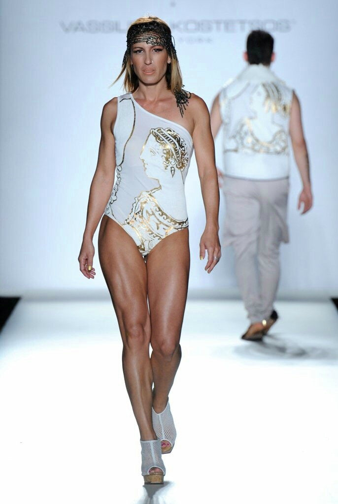 Olympic Greek Champion Winner Piyi Devetzi Guest Star In Vassilios Kostetsos Fashion Show