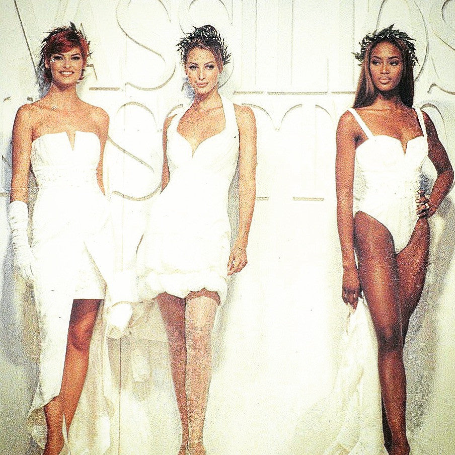 Dedicated To Olympics!Olympics Iconic Goddesses Ever & Forever Linda Evangelista Christy Turlington Naomi Campbell In Vassilios Kostetsos Historical Fashion Show In Athens Greece