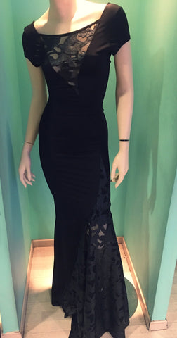 Long black dress jersey