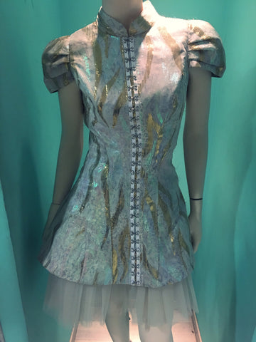 """RentCouture"" Evening Couture brocade short dress only for rent size small"