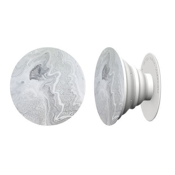 Classic Grey Marble Hand Painted Pop Socket
