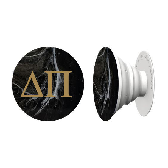 Black Marble Hand Painted Phone Grip - Janet Gwen Designs