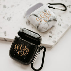 Monogram Marble Airpod Case