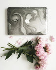 Grey Marble Macbook Case - Janet Gwen Designs