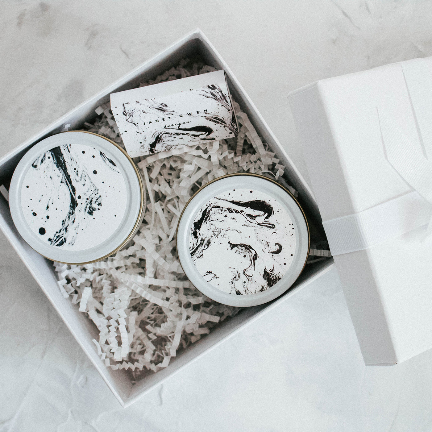 Pick 2 White Travel Candle Gift Set - Janet Gwen Designs