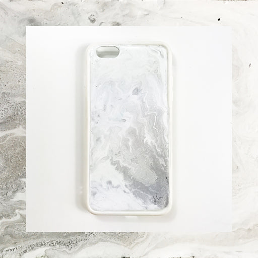 Classic Grey Marble Hand Painted Phone Case