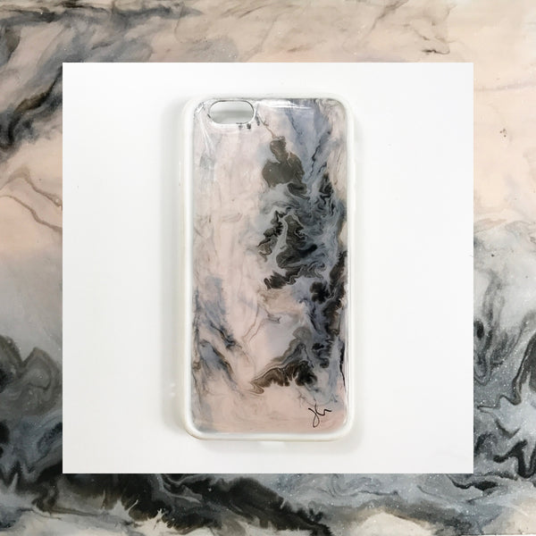 Marble Haze Hand Painted Phone Case - Janet Gwen Designs