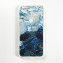 Brushed Waves Hand Painted Phone Case - Janet Gwen Designs