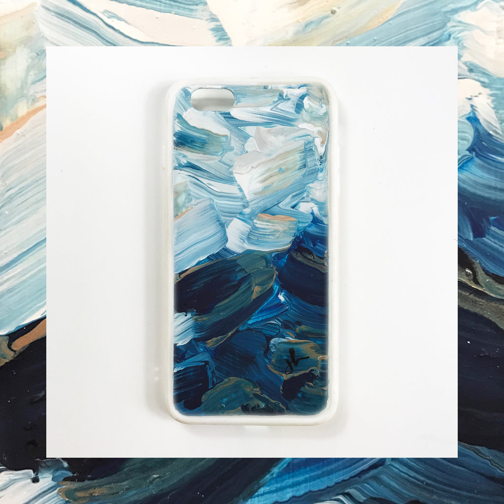 Brushed Waves Hand Painted Phone Case