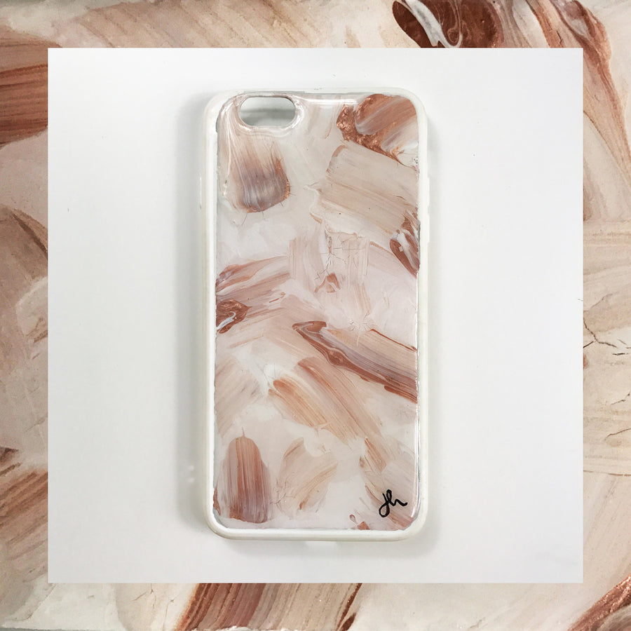 Romantic Blush Hand Painted Phone Case