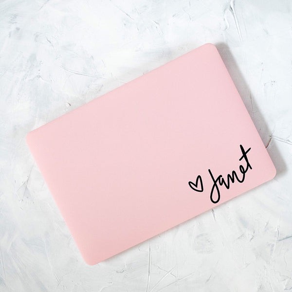 Pink Personalized Laptop Case - Janet Gwen Designs