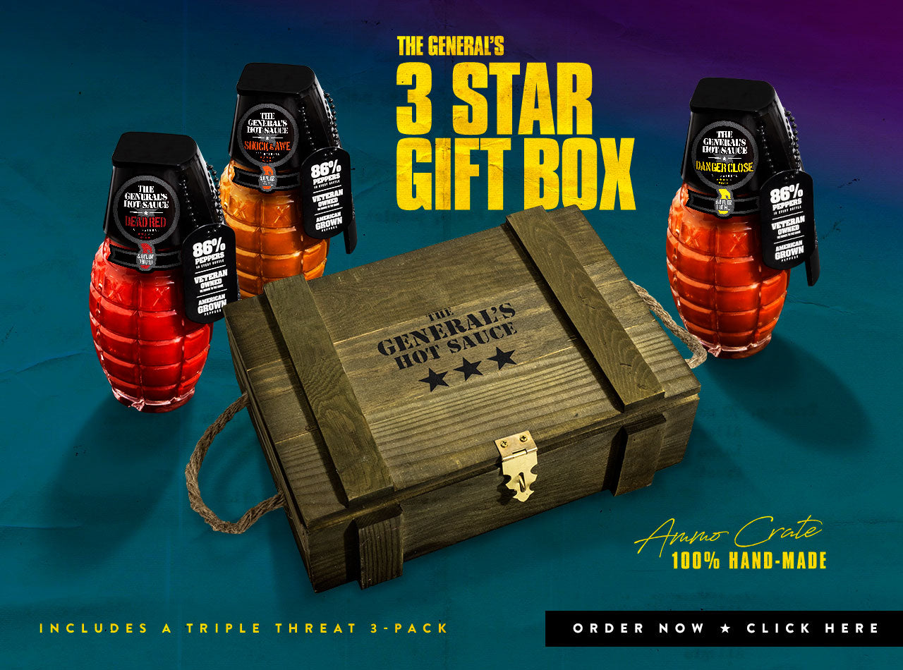 The General's 3-Star Ammo Crate Gift Box