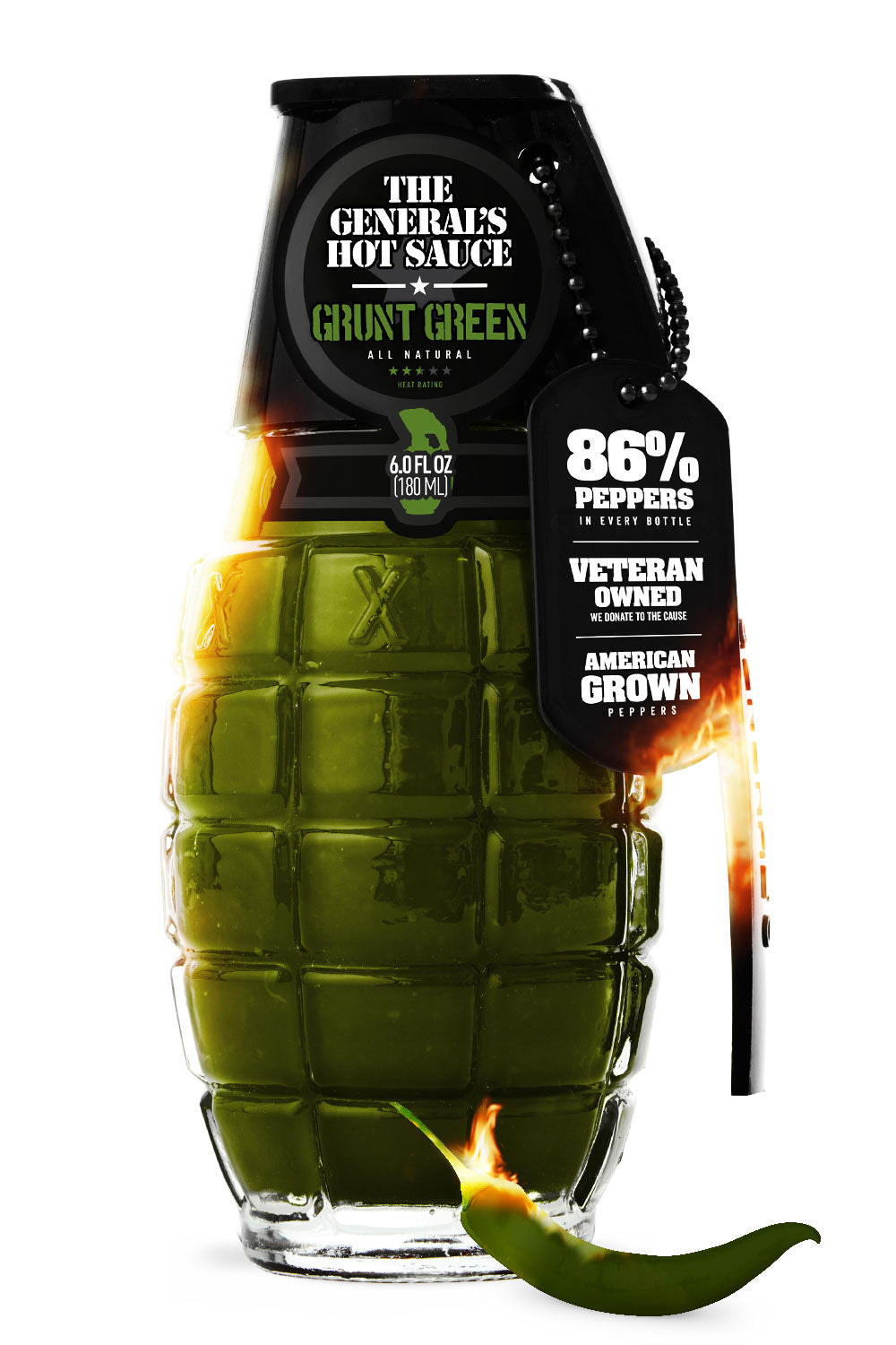 Grunt Green - The General's Hot Sauce