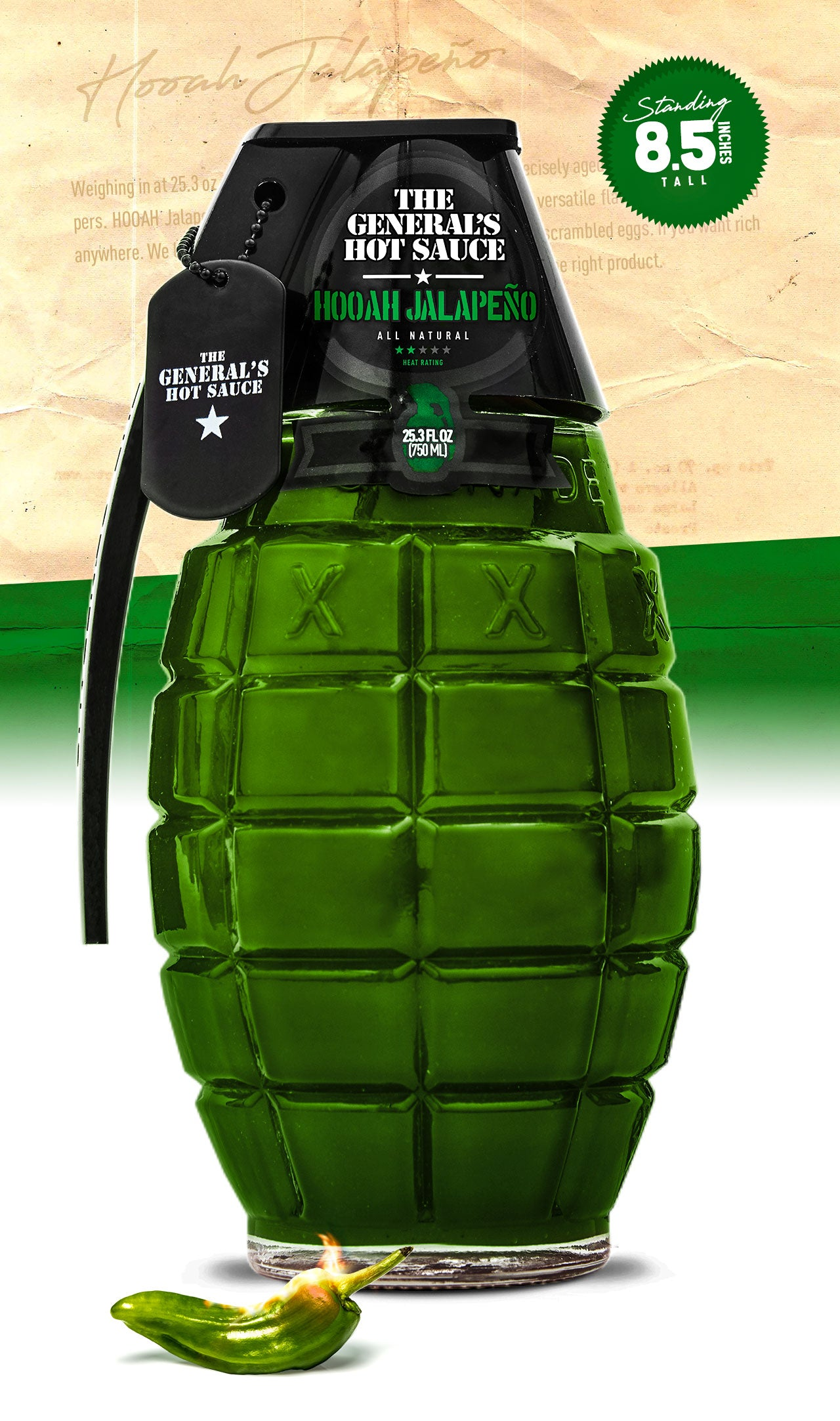 HOOAH Jalapeño big bottle - 750 ml