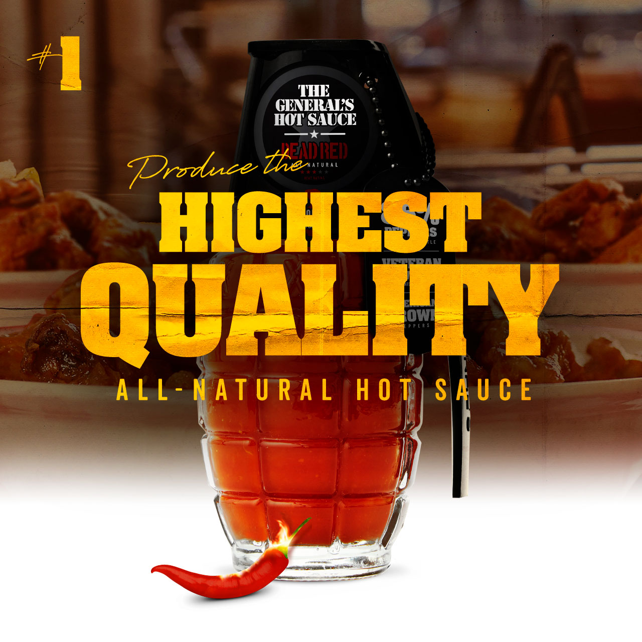 Produce the highest quality American-grown, all-natural hot sauce possible.