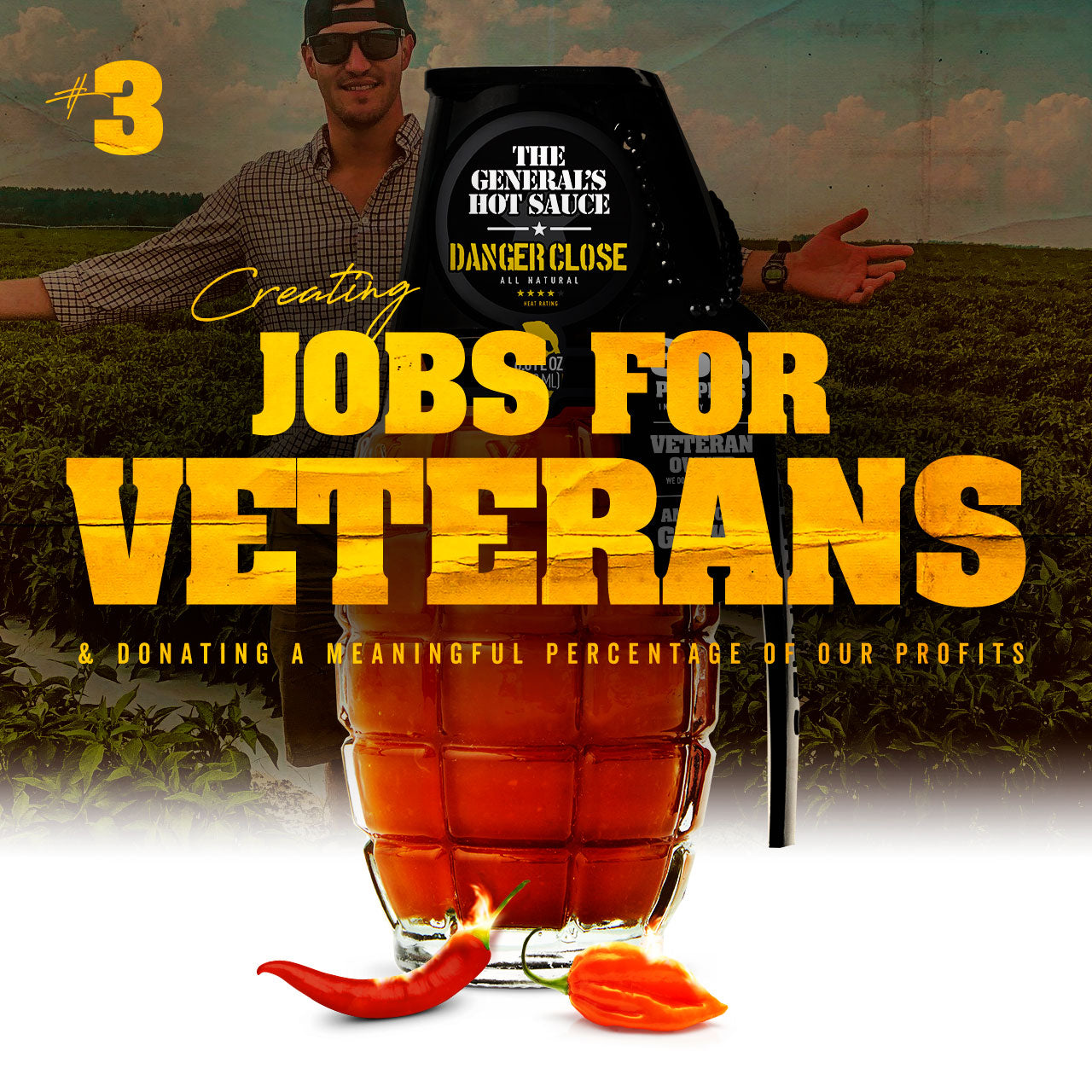 Serve the greater good by creating jobs for Veterans.