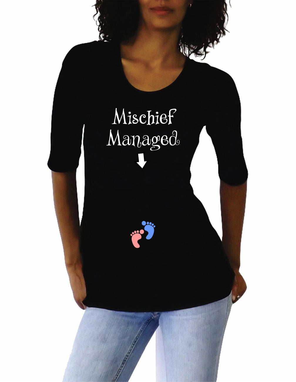 "Maternity Funny ""Mischief Managed"" Maternity Shirt"
