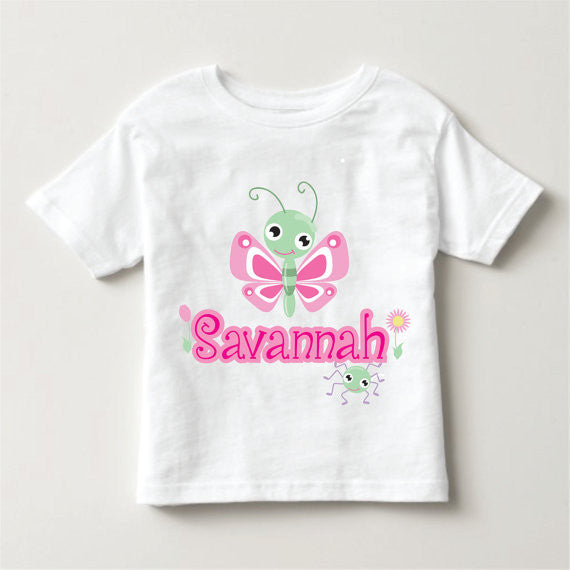 Personalized Kid's Butterfly Shirt  Kid's Clothing