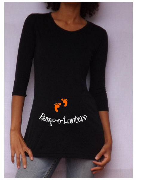 "Halloween ""Bump o Lantern"" Maternity Shirt- Holiday Wear"