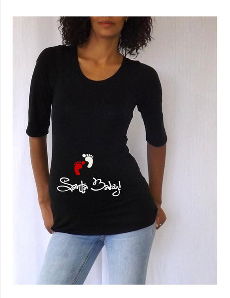"Maternity Shirt/Tee/Top "" Santa Baby"" - Maternity clothes"