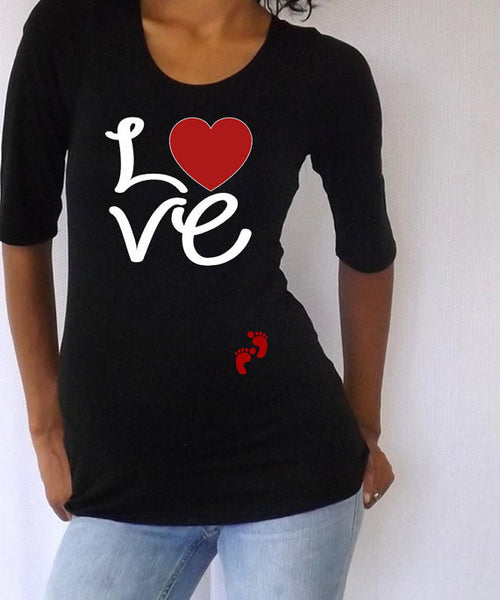 "Maternity shirt-""LOVE""- Pregnancy wear"