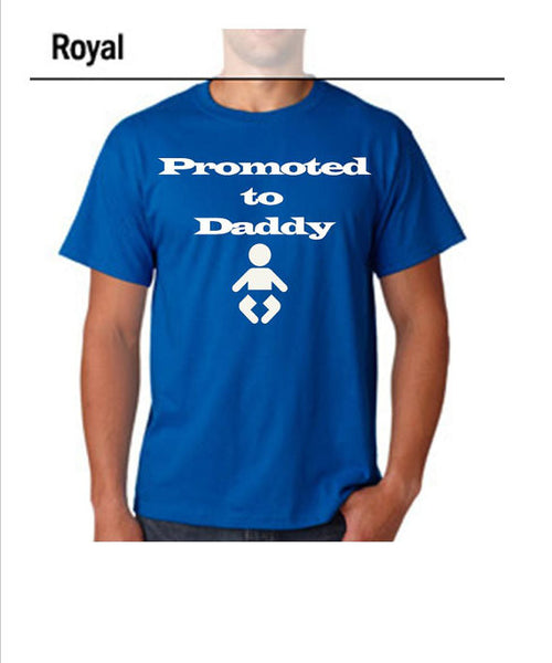 "Dad to be Funny Shirt ""Promoted to Daddy"""