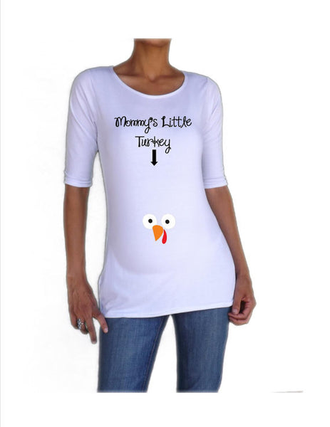 "Thanksgiving Maternity Shirt "" Mommy's little turkey"""