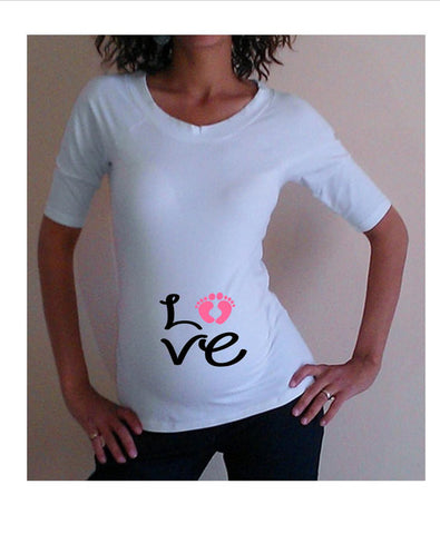 "Cute ""Love"" design  - Maternity shirt, pregnancy clothes"