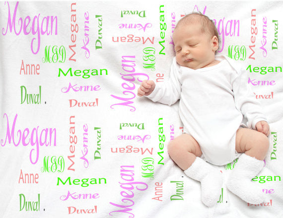 Personalized baby blankets- Swaddle blankets