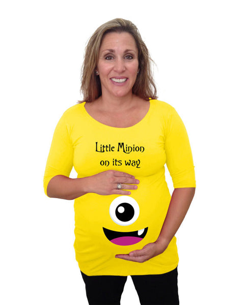 "Maternity ""Little Minion on its way"" Shirt - Holiday Wear"
