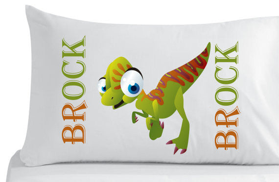 Personalized Dinosaur Pillowcase -Bedroom Decor