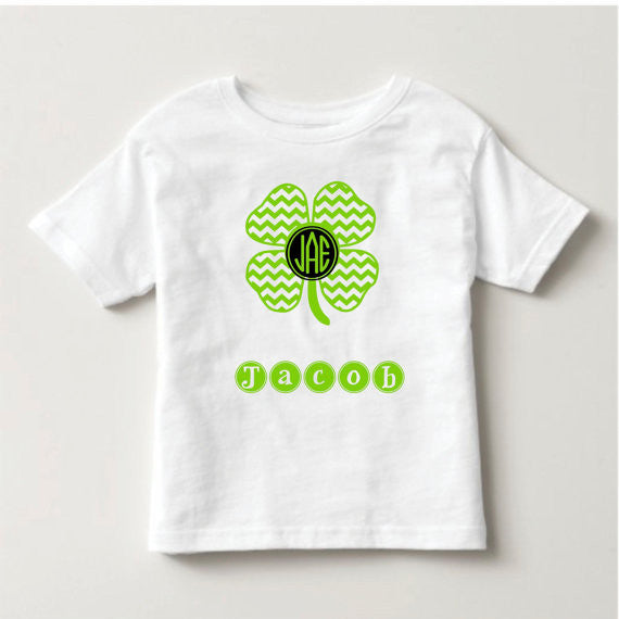 Holiday Personalized Shamrock Shirt  Kid's...