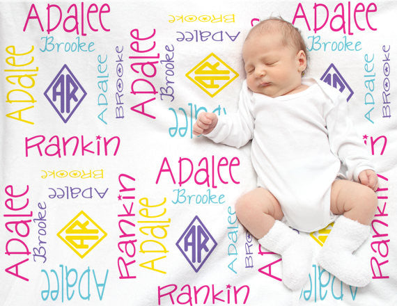 Personalized Baby Blankets  Swaddle Blankets
